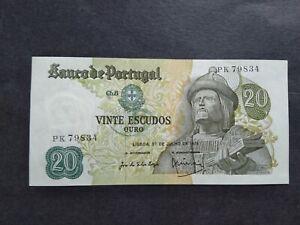 PORTUGAL 20 ESCUDOS 1971 PK BANKNOTE