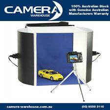 Optex Portable Photo Studio & Lighting Kit with Double Sided Backdrop