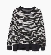 Mango Printed Cotton Sweater Size Uk S  LS172 BB 19
