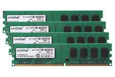 Crucial 4X 2GB DDR2 2RX8 800MHz PC2-6400U 240PIN DIMM Desktop Memory RAM 6400