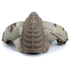Airsoft Paintball Tactical Half Face Mask Combat Game Protect 1000D Nylon CP