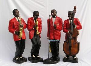 Blues Swing Band Jazzband Deko Jazz Band Musiker Figur Figuren Statue Deko USA
