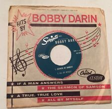 BOBBY DARIN, IF A MAN ANSWERS, CAPITOL CUSTOM#2849, RARE 45 EP PROMO RECORD