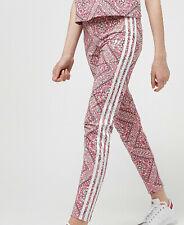 Girls adidas originals leggings graphic Aop Pink New Ages 7- 15 junior Last Two