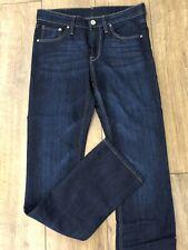 Brand New H&M Dark Blue Slim Regular Waist 27 Leg 32 Straight Denim Jeans