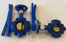 Lot of 2 Grinnell 8000 Series Butterfly Valves  WC-8101-3  2 inch and 2.5 inch