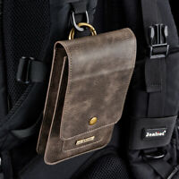 Phone Bag for SmartPhone Genuine Leather Carry Belt Clip Pouch Waist Purse Case
