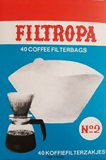 40 x Expresso cup Coffee Machine Maker Paper Filter Paper White FILTROPA