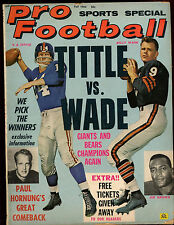 Fall 1964 Pro Football Magazine With YA Tittle Front Cover VGEX