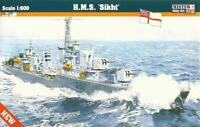 HMS SIKH / HMS BEDOUIN  - WW II ROYAL NAVY DESTROYER  1/600 MISTERCRAFT