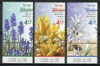 Israel Stamps 2019 MNH Autumn Flowers Plants Flora Nature 3v Set