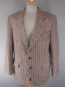 """BRITISH MADE PITLOCHRY PURE WOOL HOUNDSTOOTH CHECK HANDWOVEN HARRIS TWEED JKT40"""""""
