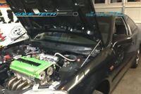 96-00 Honda Civic EK9 Black Strut Bonnet Shock Gas Lift Stainless Hood Damper