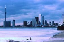 Photo. 1977-8. Toronto, Canada. Skyline - winter snow