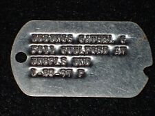 "WW2 US Army Personnel Identification Disk ""Dog Tag"" Gathel G Iddings - Scarce"