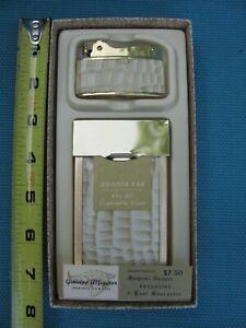 Vintage Art Deco Alligator Cigarette Case and Lighter Original Packaging