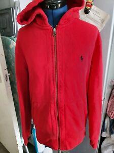 RALPH LAUREN Polo  RED  Full Zip Hoodie size M
