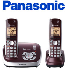 Panasonic KX-TG6572R Cordless Phone with Answering System, Wine Red, 2 Handsets