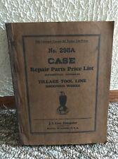 Vintage J. I. Case Repair Parts Price List No.298A