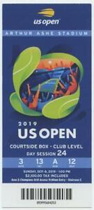 9/8 2019 US Open Tennis Courtside FULL TICKET Serena Williams Bianca Andreescu