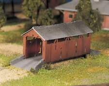 New In Box ! O Scale PLASTICVILLE  COVERED BRIDGE  By Bachmann