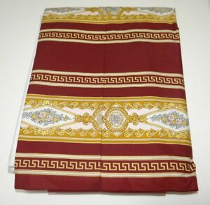 Authentic GIANNI VERSACE HOME burgundy/gold/white KING bedskirt NEW