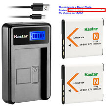 Kastar Battery LCD USB Charger for Sony NP-BN1 NPBN1 & Sony Cyber-shot DSC-TX10