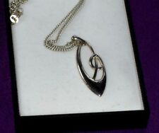 VINTAGE MALCOLM GREY ORTAK STERLING SILVER PENDANT NECKLACE ORIGINAL BOX