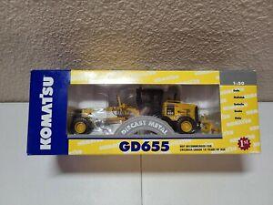 Komatsu GD655 Grader - Yellow - First Gear 1:50 Scale Model #50-3062 New!