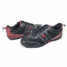 Coogi Mens 10 Racing Lace Up Shoes Black and Red CMF342