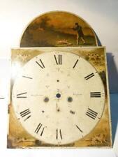Antico 1822-26 Samuel Ingham Ripon Longcase SMALTO scena di caccia clock dial