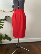 New listing Vintage Red Pencil Wiggle Skirt