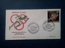 L749. Enveloppe 1er Jour 1965. Congo Brazzaville. Premiers Jeux Africains