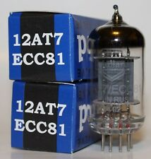 Matched Pair Mullard 12AT7 / ECC81 pre-amp tubes, Reissue, NEW
