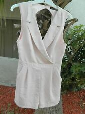 NWT Rehab Romper Pink Tuxedo Style Shorts with Back Cutout Sz M