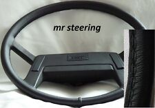 for Volvo B10m Bus 1978-1999 Real Black Italian Leather Steering Wheel Cover