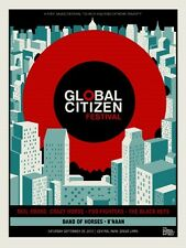 2012 Global Citizen Festival Concert Poster Black Keys Foo Fighters Neal Young