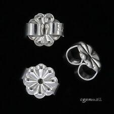6 Sterling Silver Daisy Butterfly Backs Clutches 6mm For Stud Earring #97509