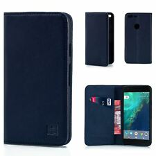 32nd Classic Series - Real Leather Book Wallet Case Cover for Google Pixel XL G.pixelxl.32ndclassic-navyblue Navy Blue