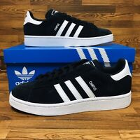 *NEW* Adidas Originals Campus (Men's Size 7.5) Athletic Sneaker Shoe Black White