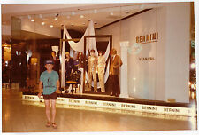 Vintage 80s PHOTO Young Asian Man Guy At Las Vegas Casino Mall Bernini Shop