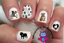 English Bulldog Nail Art Decals