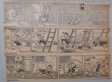 (210) Donald Duck Dailies by Walt Disney from 1938 Size: 3 x 10 inches Year #1