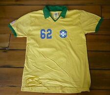 Brasil Brazil Guarana Antarctica 100% Cotton #62 Soccer Fan Jersey Shirt M