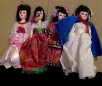 """Vintage Blue Bonnet & Dolls of All Lands 8"""" Dolls. Hard Plastic. 1940'5-50's."""