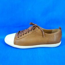 PERTINI Ladies Sneakers Trainers Shoes Size 37 Braun Leather Sporty Np 139 New
