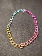 Multicolored Big Chain Necklace