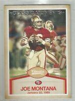 Joe Montana San Francisco 49ers 2016 Classics CLASSIC MOMENTS