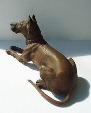 Vienna Austria Cold Painted Bronze Bergman German Mastiff Great Dane Dog Stamped