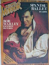 RECORD MIRROR 11/4/81 - SPANDAU BALLET - BOB MARLEY - GRAHAM BONNET